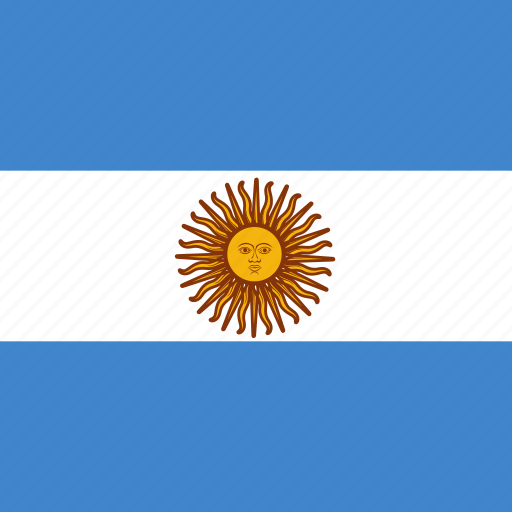 argentina, flag, square icon