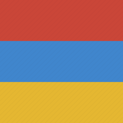 armenia, flag, square icon