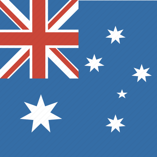 australia, flag, square icon