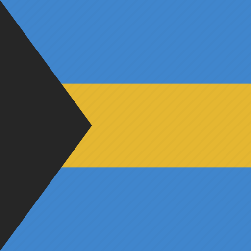 bahamas, flag, square icon