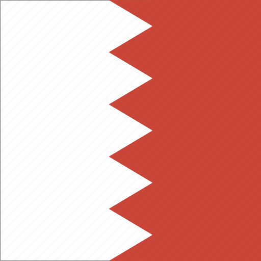 bahrain, flag, square icon