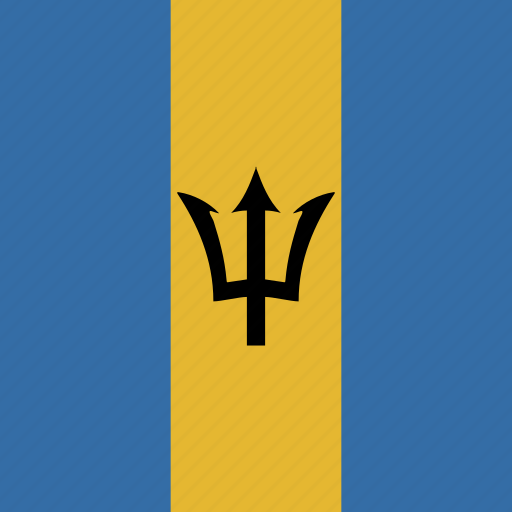 barbados, flag, square icon