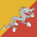 bhutan, flag, square icon