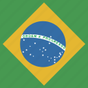 brazil, flag, square icon