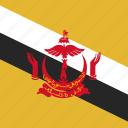 brunei, flag, square
