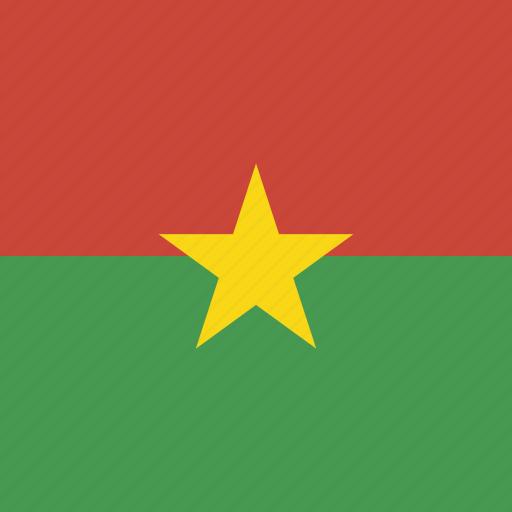 burkina, faso, flag, square icon