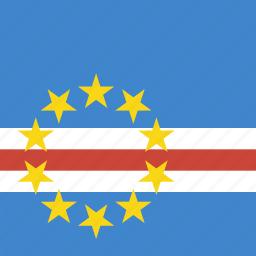 cape, flag, square, verde icon