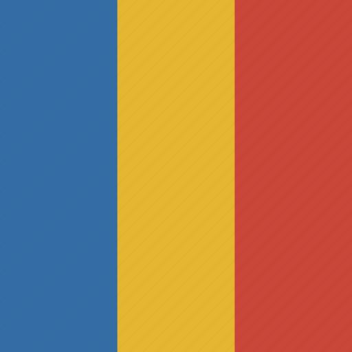 chad, flag, square icon