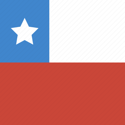 chile, flag, square icon
