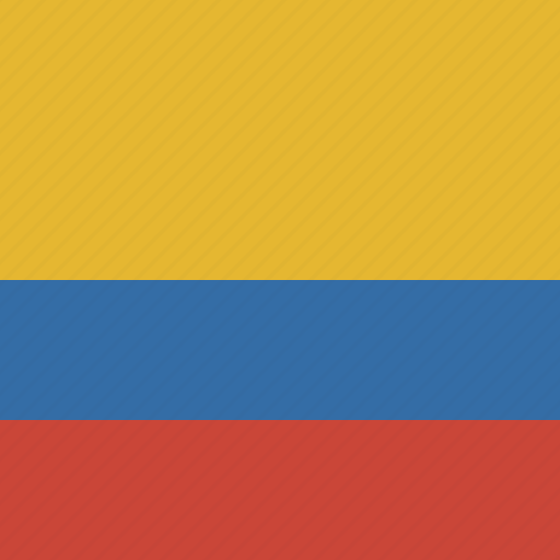 colombia, flag, square icon
