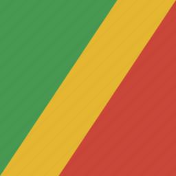 congo, flag, square icon