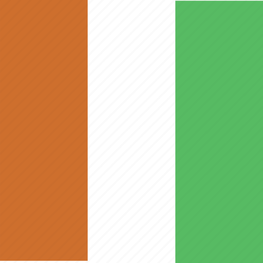 cte, divoire, flag, square icon