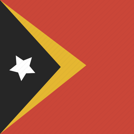 east, flag, leste, square, timor icon