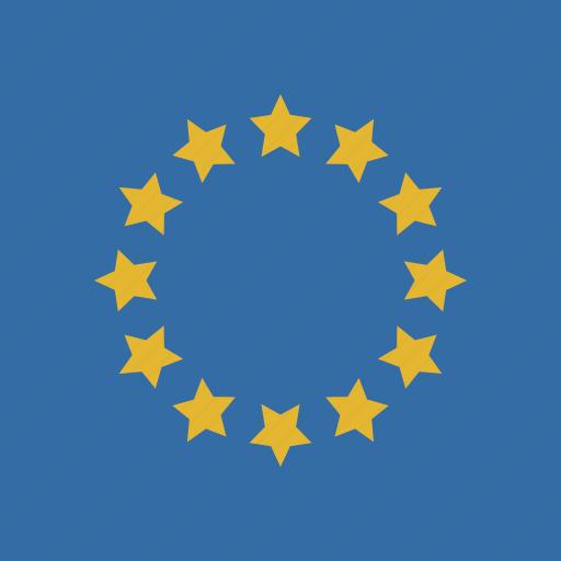 europe, flag, square icon