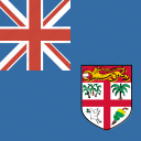 fiji, flag, square icon