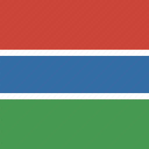 flag, gambia, square icon