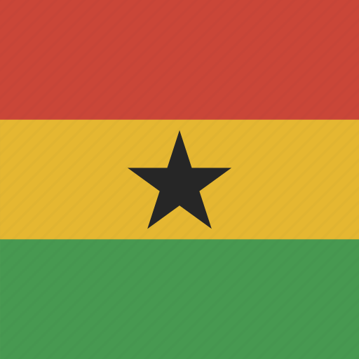 flag, ghana, square icon