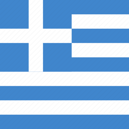 flag, greece, square icon
