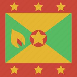 flag, grenada, square icon