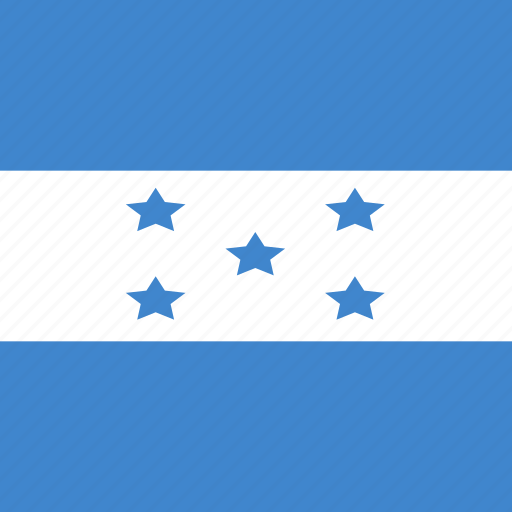 flag, honduras, square icon