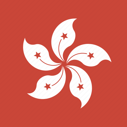 flag, hongkong, square icon