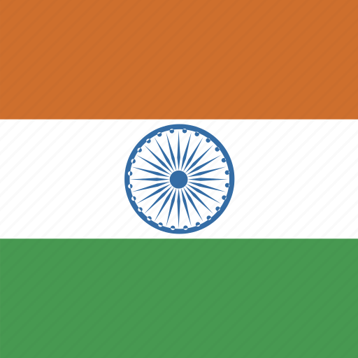 flag, india, square icon