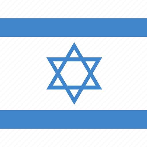 flag, israel, square icon