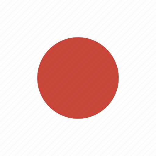 flag, japan, square icon