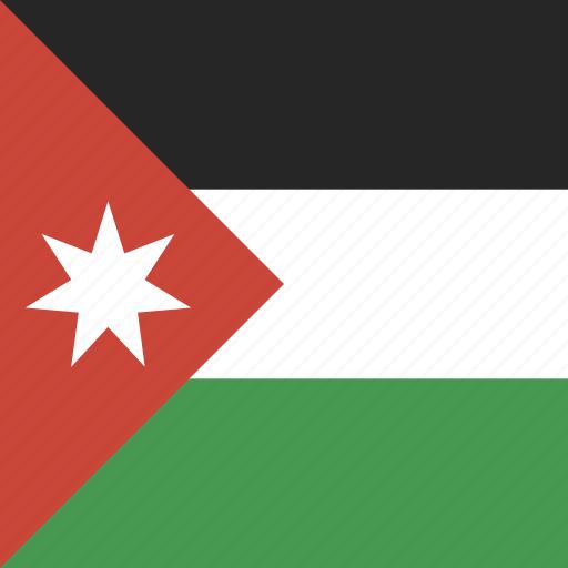 flag, jordan, square icon
