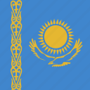 flag, kazakhstan, square icon