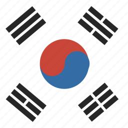 flag, korea, square icon