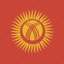 flag, kyrgyzstan, square icon