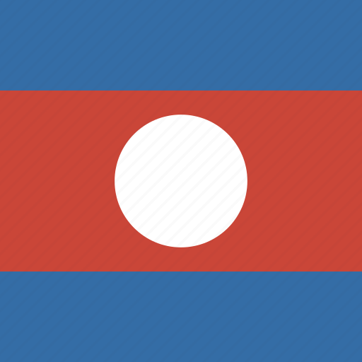 flag, laos, square icon