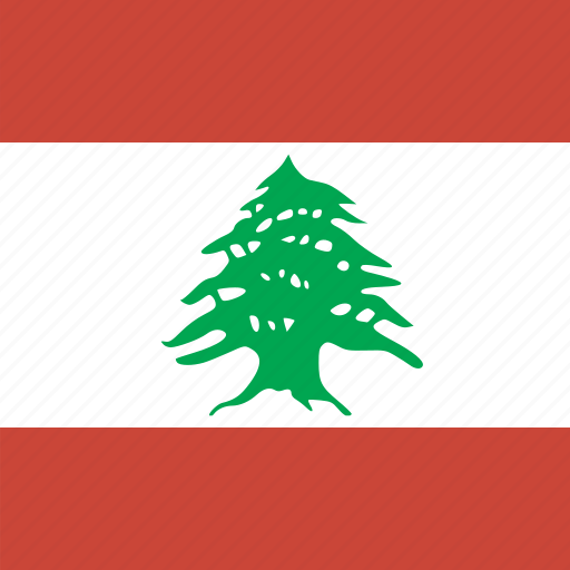 flag, lebanon, square icon