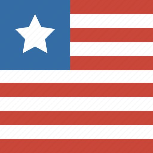 flag, liberia, square icon