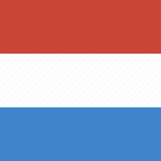 flag, luxembourg, square icon