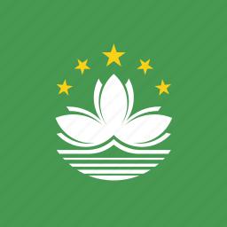 flag, macau, square icon