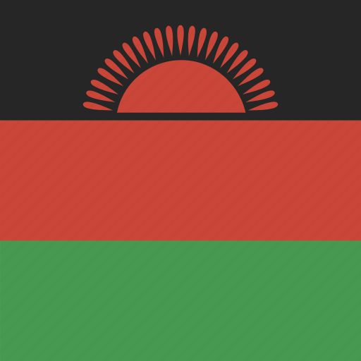 flag, malawi, square icon