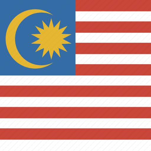 flag, malaysia, square icon
