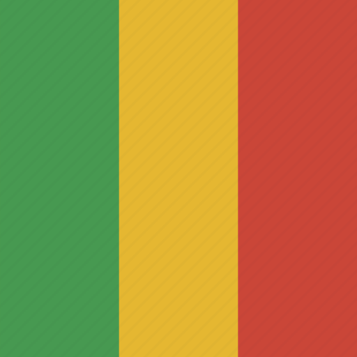flag, mali, square icon