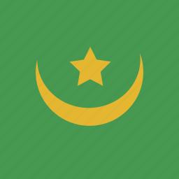 flag, mauritania, square icon