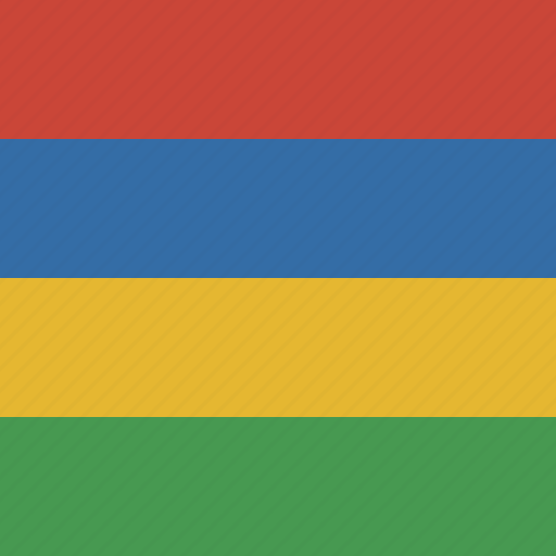 flag, mauritius, square icon