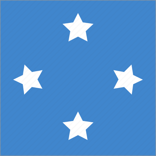 flag, micronesia, square icon