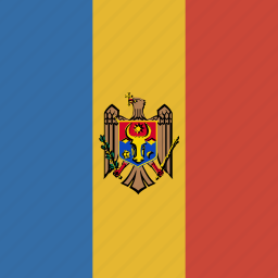 flag, moldova, square icon