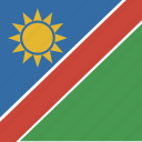 flag, namibia, square icon