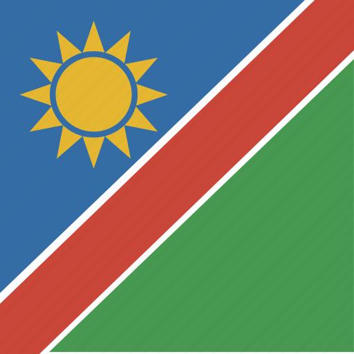 flag, namibia, square icon