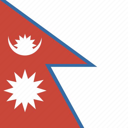 flag, nepal, square icon