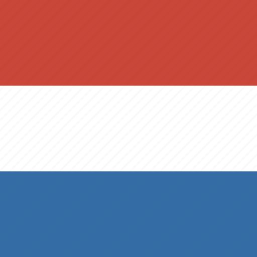 flag, netherland, square icon