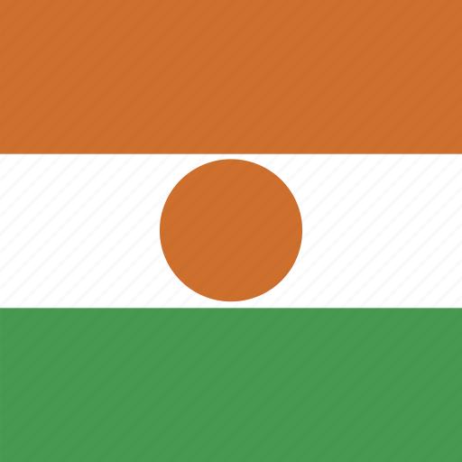 flag, niger, square icon