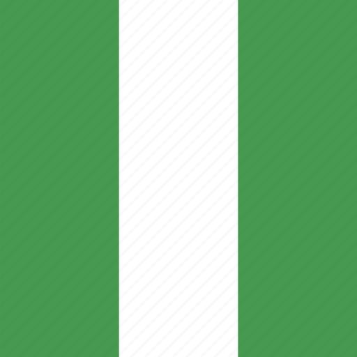 flag, nigeria, square icon